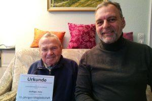 Heinz Wolfinger 70 Jahre beim TVO